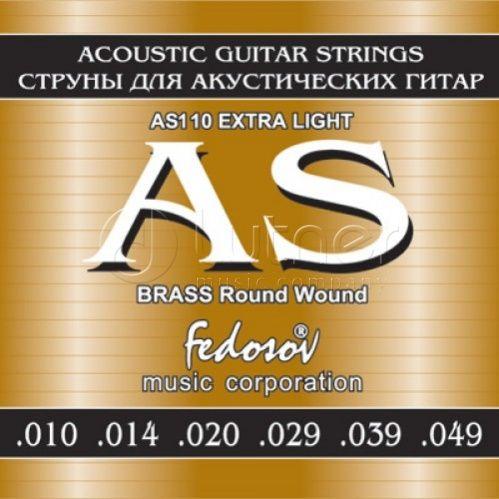 FEDOSOV AS110 Brass Round Wound (10-49) Струны для акустической гитары