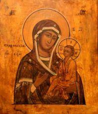 Тихвинская икона Божией Матери (копия старинной)