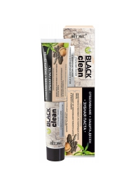 Black Clean Зубная паста ОТБЕЛИВАНИЕ + ЗАЩИТА ДЁСЕН с микрочастицами черного активированного угля и корой дуба 85 гр