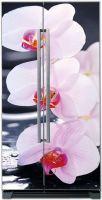 Виниловая наклейка на холодильник - SPA Орхидеи