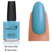 CND Vinylux Azure Wish 102 недельный лак, 15 мл