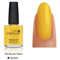 CND Vinylux Bicycle Yellow 104 недельный лак, 15 мл