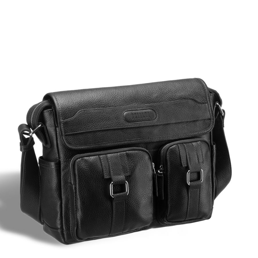 Горизонтальная сумка через плечо BRIALDI Ontario (Онтарио) relief black