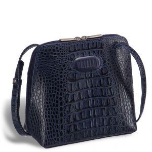 Оригинальная сумочка через плечо BRIALDI Torre (Торре) croco navy