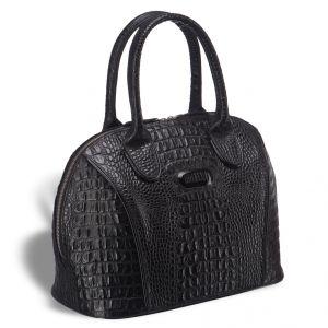 Каркасная женская сумка BRIALDI Villena (Вильена) croco black