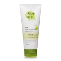 Корейская пенка очищающая WELCOS Natural Therapy Deep Cleansing Foam