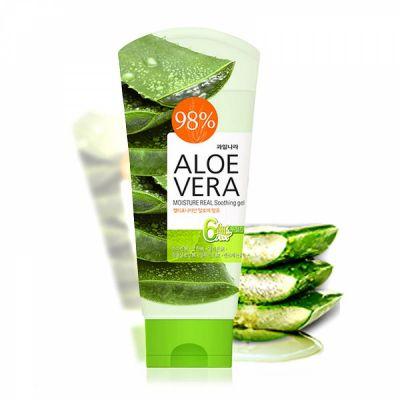 Корейский гель для тела успокаивающий с алоэ вера WELCOS Kwailnara Aloe vera Moisture Real Soothing Gel в ассортименте