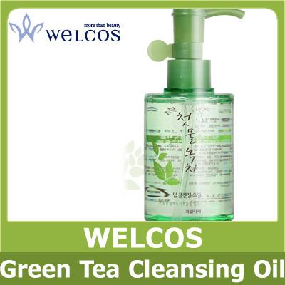 Корейское масло очищающее с экстрактом зеленого чая WELCOS Green Tea Deep Cleansing Oil