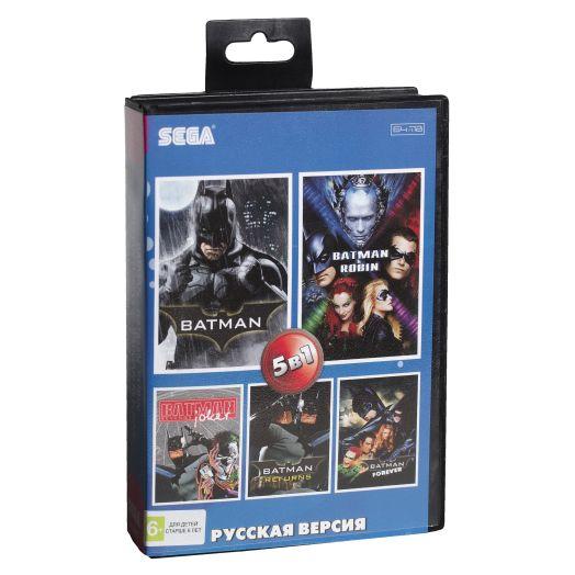 Sega картридж 5в1 (AB-5011) BATMAN / BATMAN  ROBIN , FOREVER, RETURNS, JOKER