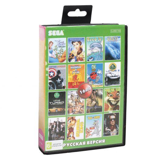 Sega картридж 16в1 (AA-16001) ADDAMS FAMILY/BEAUTY & BEAST1,2/ECCO 1,2+.