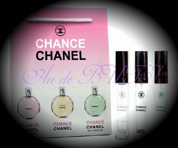Набор Chanel 3 по 15 ml женский (шанс, фреш, тендер)