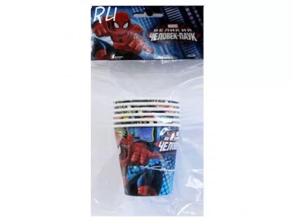 Стаканы бумажные Человек-Паук (200мл 6 шт/уп)