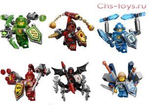 6 конструкторов Lele Nexo soldiers 79242 (Реплика Lego Nexo Knights)