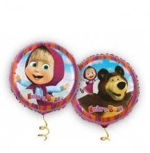 Маша и медведь фольгированный шарик