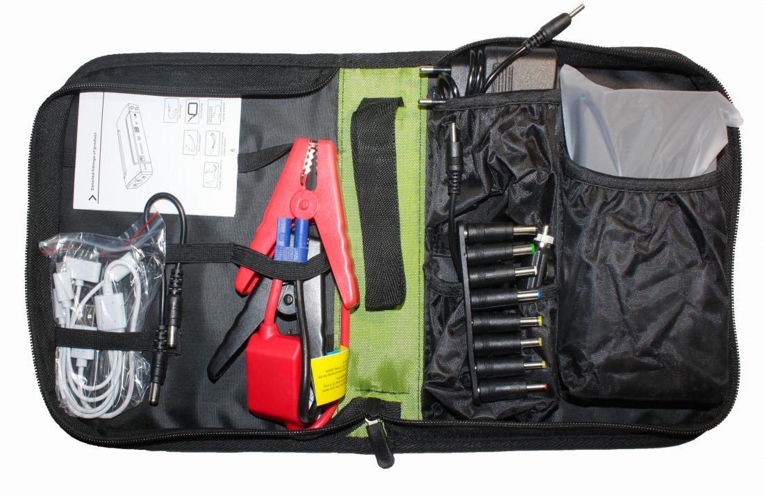 Автомобильное портативное пуско-зарядное устройство с пауэрбанком HIGH-POWER TM15 (5V-19V, 3.5A, 16800mAh)