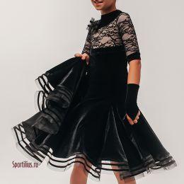 """Платье для танцев """"Неаполь"""", черное"""