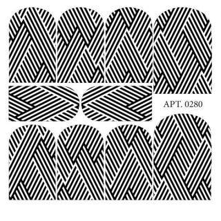 Слайдер-дизайн для ногтей № 0280