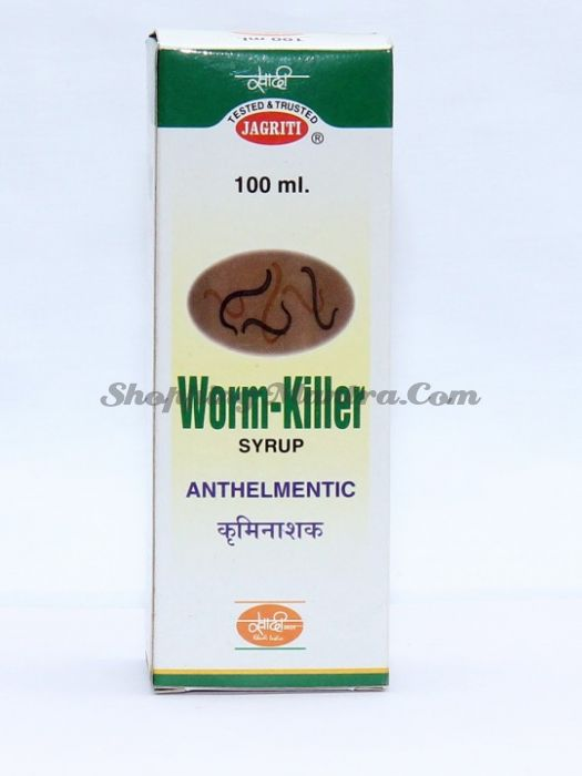 Ворм Киллер Джагрити Хербс натуральный сироп-антигельминтик | Jagriti Herbs Worm Killer Syrup