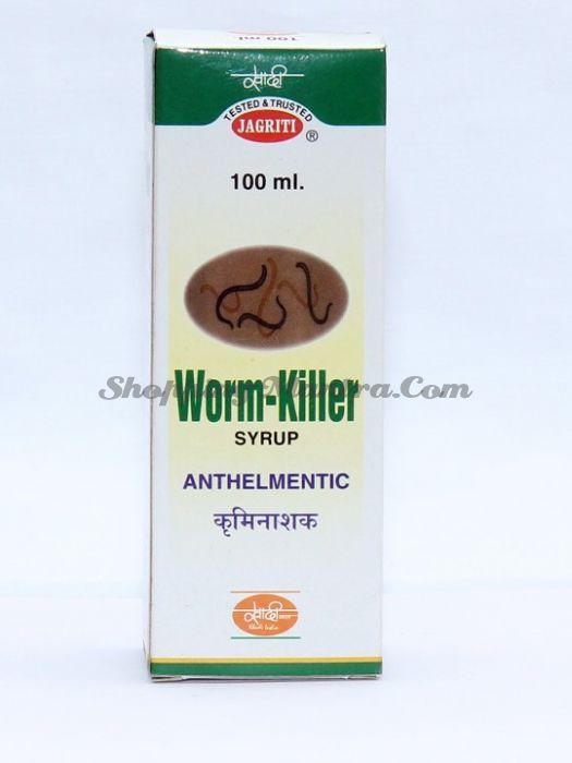 Ворм Киллер Джагрити Хербс натуральный сироп-антигельминтик   Jagriti Herbs Worm Killer Syrup