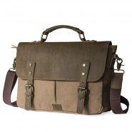 Мужская кожаная ретро сумка (36*26 см)