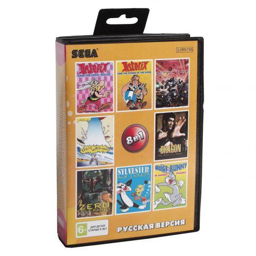 Sega картридж 8в1 (AA-81002) BATTLE TECH/BEAVIS/ZERO TOLERANCE+..
