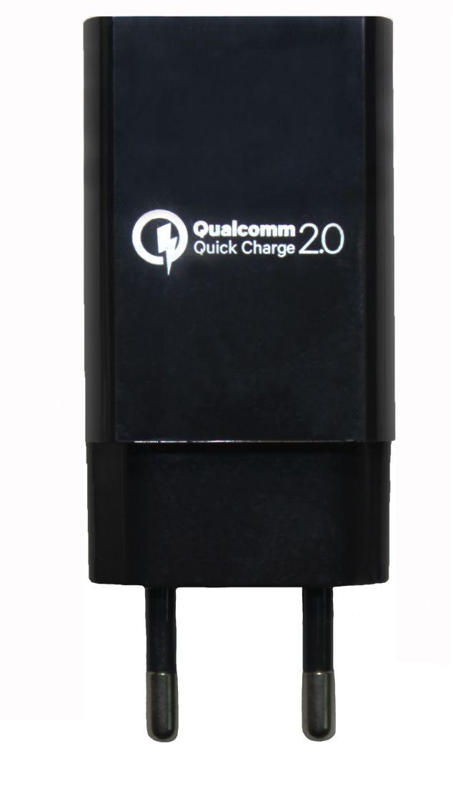 Зарядное устройство Qualcomm Quick Charge 2.0 USB (5V/9V/12V-15Wmax)