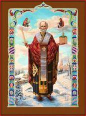 Николай Можайский (рукописная икона)