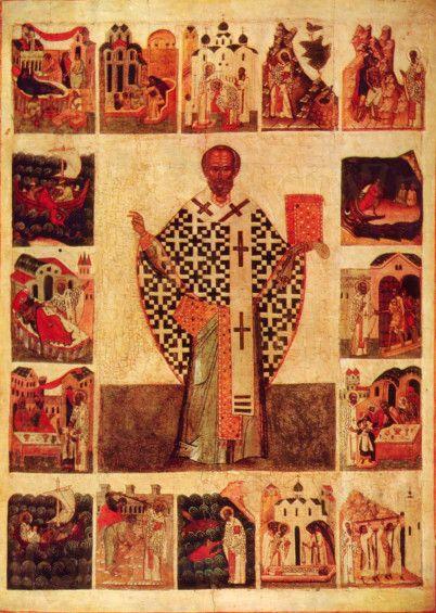 Икона Николай Зарайский (копия 16 века)