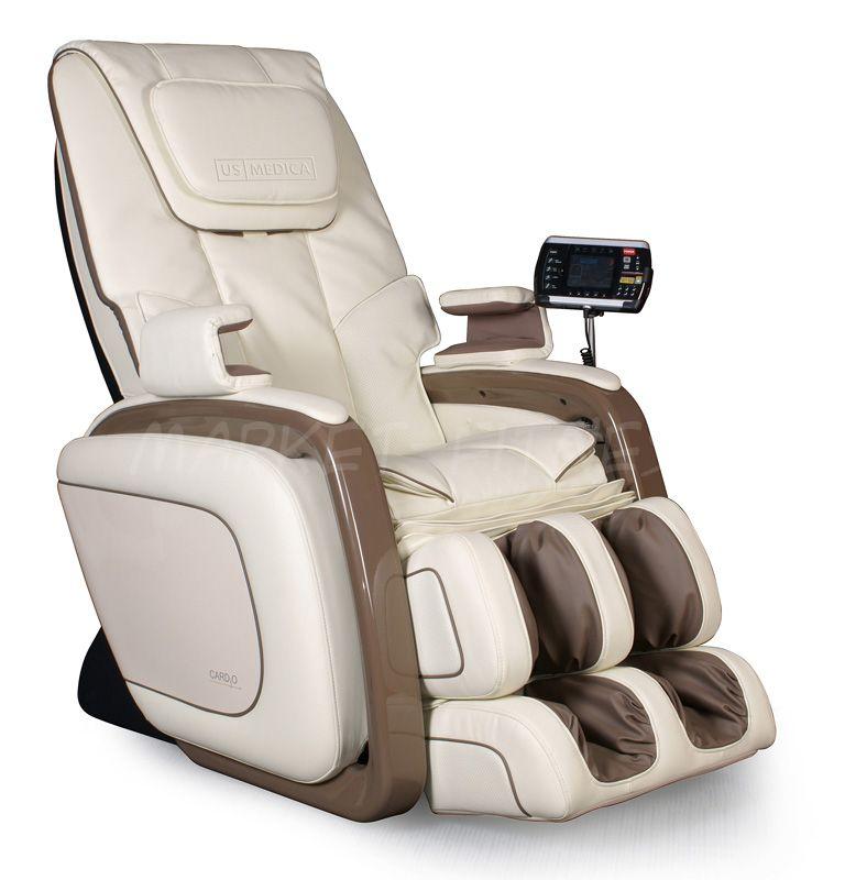 Массажное кресло US MEDICA CARDIO черный/бежевый
