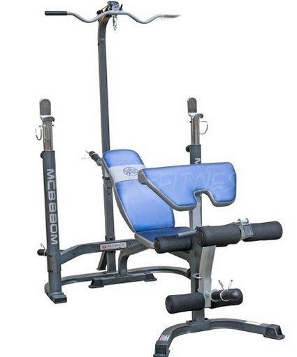 Олимпийская скамья с подушкой для бицепсов и силовой башней MARCY MCB880M