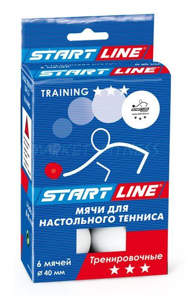 Мячи для настольного тенниса Start line Training 3* 6 шт