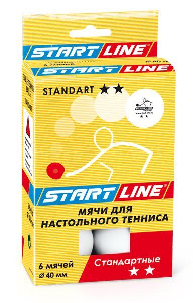 Мячи для настольного тенниса Start line Standart 2* 6 шт