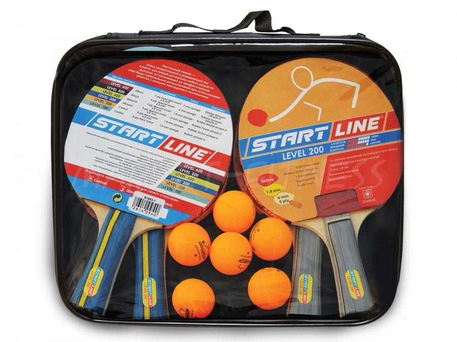Набор Start Line Level 200 (4 ракетки и 6 мячей)
