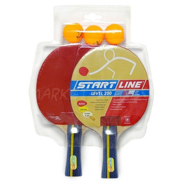Набор Start Line Level 200 (2 ракетки и 3 мяча)