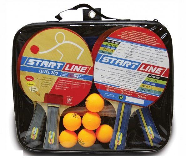 Набор Start Line Level 200 (4 ракетки, 6 мячей  и сетка)