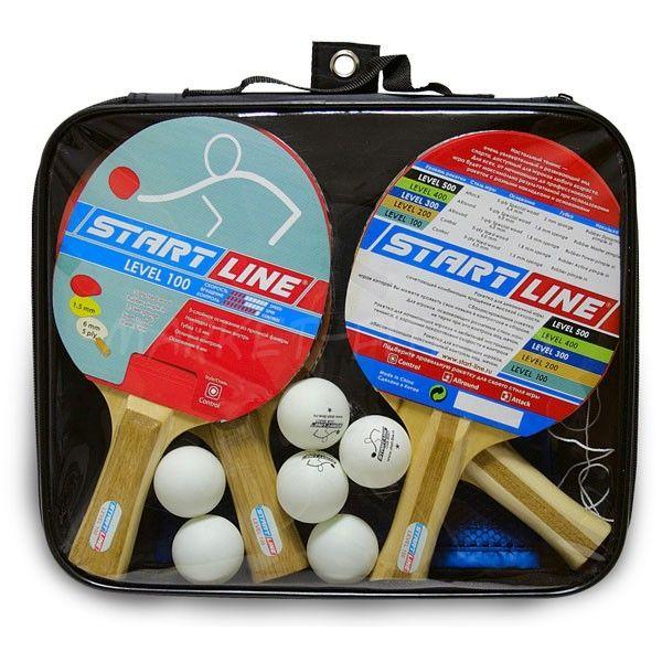 Набор Start Line Level 100 (4 ракетки, 6 мячей и сетка)