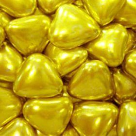 Сердечки шоколадные ЗОЛОТЫЕ 50г