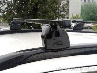 Багажник на крышу Mitsubishi ASX, Lux, стальные прямоугольные дуги на интегрированные рейлинги