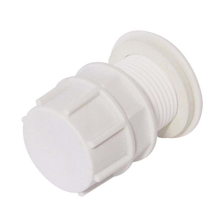 Отвод из бака в сборе 1 1/2 пластик