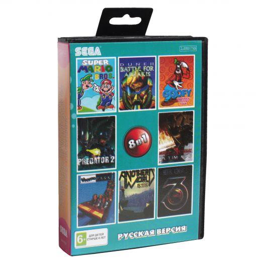 Sega картридж 8в1 (AA-81003) DUNE 2/GOOFY`S/ M K 3 /SUPER  MARIO+..