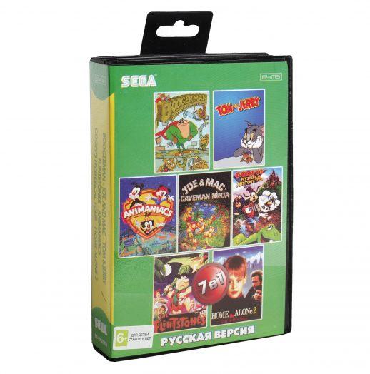Sega картридж 7в1 (BS-7002 RU) Boogerman/ Joe and Mac / Tom & Jerry /Flintstones +..