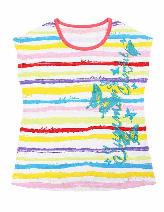 Яркая блуза для девочки Краски лета