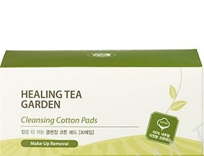 Диски хлопковые влажные очищающие SAEM Healing Tea Garden Cleansing Cotton Pads