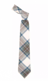 Истинно шотландский клетчатый галстук 100% шерсть , расцветка клан Стюарт (Синий вариант)