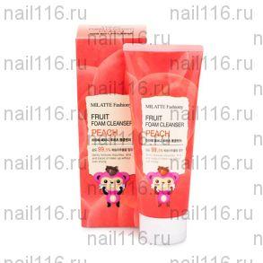Пенка для умывания персик MILATTE FASHIONY FRUIT FOAM CLEANSER - PEACH 150мл