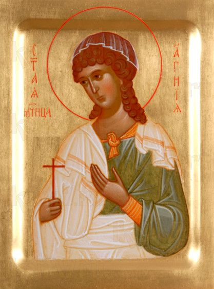 Агния Римская (рукописная икона)