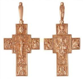 Позолоченный православный мужской массивный крест (арт. 788002)