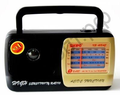 Радиоприёмник сетев. KIPO KB-408 (AM/FM/SW)(пит.220V+R20*2)динамик+гнез.науш