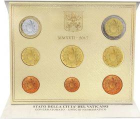 Официальный годовой набор евро Ватикан 2017 (8 монет)