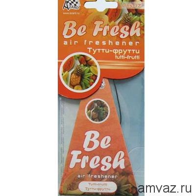 "Ароматизатор подвесной картонный ""Be Fresh"" Тутти-фрутти"